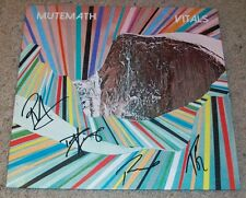 MUTEMATH SIGNED AUTOGRAPH VITALS VINYL ALBUM w/PROOF PAUL MEANY +3