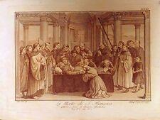 LA MORTE DI S. FRANCESCO,pittura Ghirlandaio, Firenze,Lastri Marco,1791 -1795
