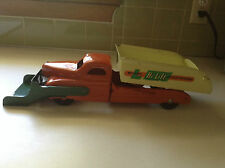 Vintage clean  Orange Buddy  L Pressed Steel HI LIFT Scoop N Dump Truck