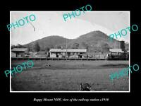 OLD POSTCARD SIZE PHOTO OF BOPPY MOUNT NSW VIEW OF THE RAILWAY STATION c1910