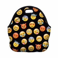 Emoji Thermal Travel Lunch Bag School Work Insulated Lunch Box Tote Colorful