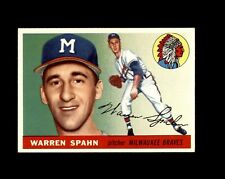 1955 TOPPS #31 WARREN SPAHN BRAVES NM-MT+ to MINT