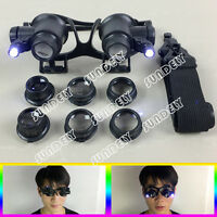 Hot 25X Magnifier Magnifying Eye Glass Loupe Jeweler Watch Repair Kit LED Light