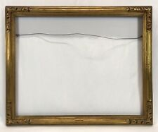 Vintage Early 20th C Hand Carved Newcomb Macklin Style Gold Frame 22 x 28 Openin