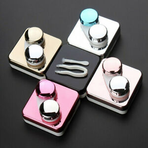 Travel Mini Contact Lens Case Box Container Holders Eye Care Set With Mirror