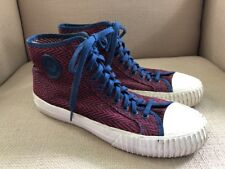 PF FLYERS CENTER HI RED/BLUE HERRINGBONE HIGH TOP SNEAKERS MENS SIZE 11