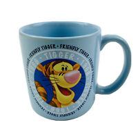 Disney Friendly Tigger Coffee Mug Winnie The Pooh Collectible Tigger Face Blue