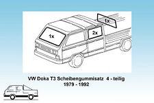 VW Doka T3 Satz Scheibendichtungen 4-teilig,  orig. Qualität  1979 - 1992