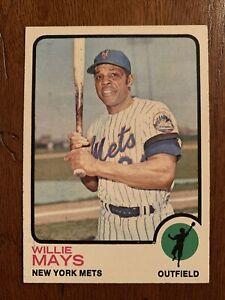 1973 Topps #305 Willie Mays New York Mets HOF