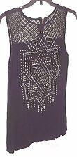 Juniors Ladies Womens Apparel Taylor & Sage Size Medium Black & Gold Bead Design