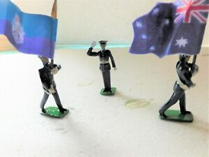 54mm Australian metal police colours and salute
