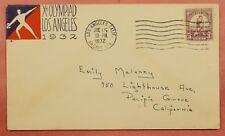 1932 #718 LOS ANGELES OLYMPICS 3C FDC CACHET