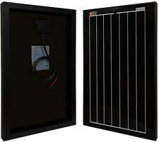 RICH SOLAR Black 20W 30W 12 Volt Off Grid Portable Monocrystalline Solar Panel