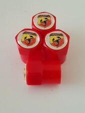 FIAT ABARTH valve DUST CAPS PLASTIC NON STICK All cars bikes 7 colours red 500