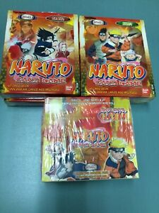 Naruto Series 1 Card Game Booster Box (24 pks) +4pks Starter 2006 Bandai Belgium