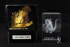 Rare 2003 TOHO GODZILLA 3D CRYSTAL ART (mn66)