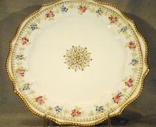 "Willets American Belleek Porcelain Pink Roses Plate 9 1/4"" dia c. 1880's"