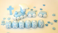 EDIBLE CHRISTENING BABY TRAIN DECORATION DECORATION CAKE TOPPER BOY--GIRL