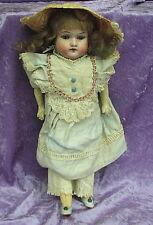 Rare alte Puppe Gerbr. Knoch um 1900 Dachbodenfund
