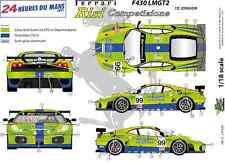 """[FFSMC Productions] Decals 1/18 Ferrari F-430 LMGT2 """"Krohn Racing"""" (LM 2007)"""