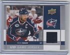 09-10 2009-10 UPPER DECK RICK NASH UD GAME JERSEY SERIES 1 GJ-RN BLUE JACKETS