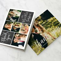 Folded Wedding Thank You Cards Personalised Photo Pack
