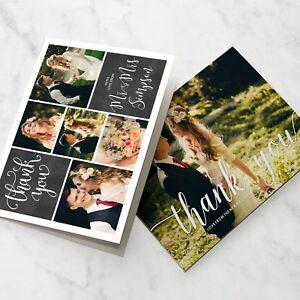 Folded Wedding Thank You Cards Personalised Photo Pack