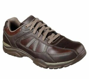 Skechers RELAXED FIT: ROVATO - TEXON 65418 CHOC  Brown Lace Up Shoe