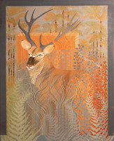 Deer Painting oil on canvas - Contemporary art - Worldwide shipments