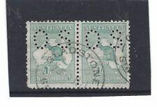 Australian Kangaroo 1 Shilling OS pair (BY32)