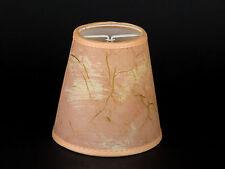 Lampenschirm Aufsteck  Rosa Marmoriert E14 Klemmschirm Gold Effekt Glitter Rosé