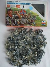 ESCI 1/72 American Civil War Confederate Infantry 4 Sets in 1 Box 200 Figures