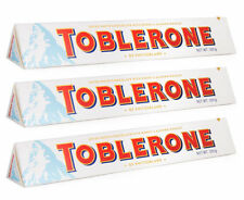 3 x TOBLERONE WHITE Swiss Chocolate Bars 3 x 100g 3.5oz = 300 grams, FREE SHIP