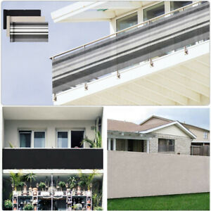 2.5/3/4FT Balcony Privacy Screen Cover Outdoor Fence Mesh Windscreen Deck Screen
