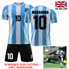 Maradona #10 1986 Argentina Shirt Retro Football Jersey BNWT Adult Kid Jersey