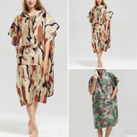 Adult Beach Towel Camouflage Printed Hooded Poncho Towel Changing Robe Kitesurf