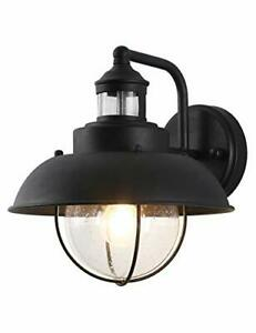 Rustic Outdoor Wall Light with Clear Seeded Glass Shade Outside Wall Lamp IP6...