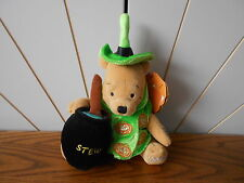 LIGHT UP HALLOWEEN WITCH beanie soft toy WINNIE THE POOH Disney Store 2002