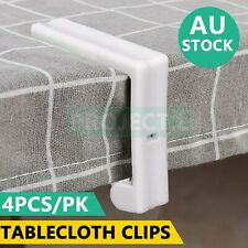 4Pcs Tablecloth Clips Desk Table Cloth Cover Clamps Holder Party Wedding White