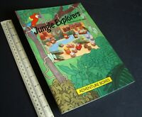 Jungle Explorers. Adventure Boxes. Press-Out Model Book Vintage 1986.