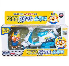 Pororo Scooter Toy Blue Full-Back Gear Car DIE-CAST Animation Children Kids Gift