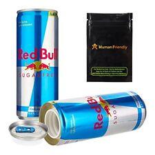 Red Bull Sugar Free Diversion Safe Secret Stash Can 8oz w  Smell Proof bag