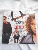 INXS Autogramm KICK signiert LP signed AUTOGRAPH Michael Hutchence InPERSON