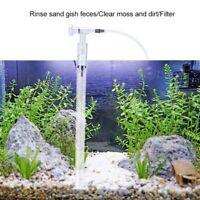 Aquarium Fish Tank Cleaning Gravel Filter Pump Vacuum Siphon Sand Cleaner Kit