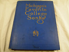 Vintage Book Michigans Favorite College Songs 1925 Eighth Edition
