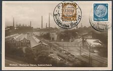 1934 Bochum Germany Real Picture Postcard Cover to Turin Italy Factory scene
