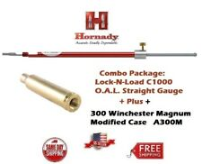 Hornady Lock-N-Load STRAIGHT OAL Gauge C1000 + .300 Win. Mag Modified Case A300M