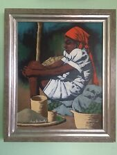 Claude Dambreville oil painting, Haitian painting