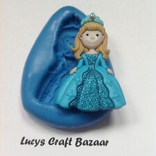 Silicone Mould Princess 1 Elsa Sugarcraft Fairytale Party Cupcake Topper Sculpey