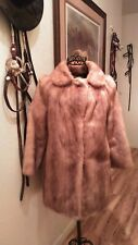 Vintage Blonde And Stawberry 3/4 Length Mink Coat Flawless Condition